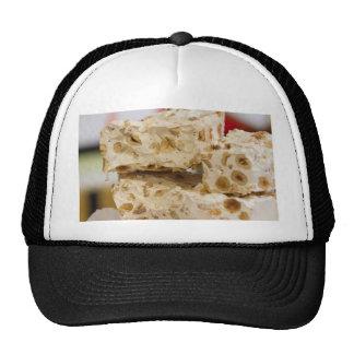 nougat in winter trucker hat