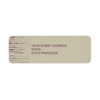 Nougat Return Address Label