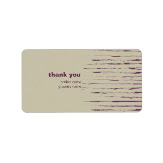 Nougat Thank You Gift Sticker label
