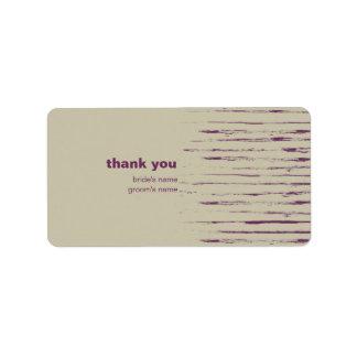 Nougat Thank You Gift Sticker Address Label