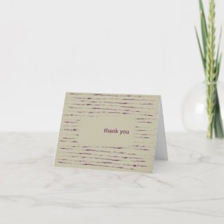 Nougat Thank You Note Card card