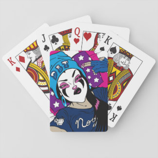 Nougat The Clown Girl Selfie Playing Cards