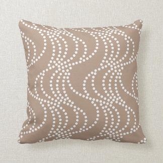 Nougat Wave Pattern Pillow
