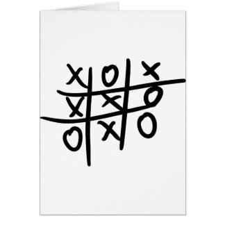noughts and crosses - tic tac toe greeting card