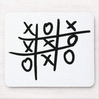 noughts and crosses - tic tac toe mouse pads