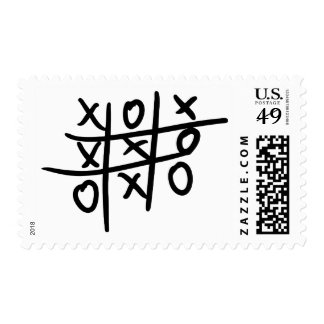 noughts and crosses - tic tac toe stamps