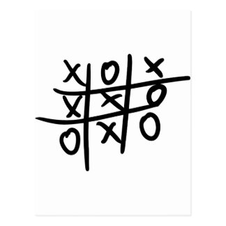 noughts and crosses - tic tac toe post cards