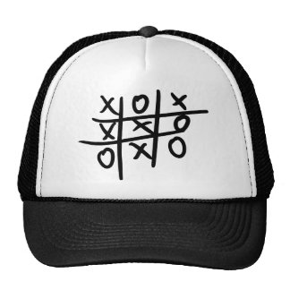 noughts and crosses - tic tac toe trucker hat