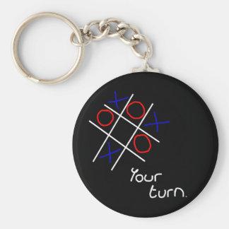 Noughts & Crosses (Tic-tac-toe) Keychain
