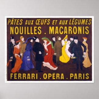 Nouilles Macaronis, Farrari Opera Paris - Poster
