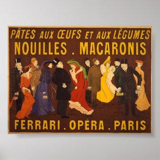 Nouilles, macarrones. Ferrari, Opéra, París Impresiones