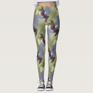 NOUMIRO ALIEN GYMNASE CUTE CARTOON LEGGINGS