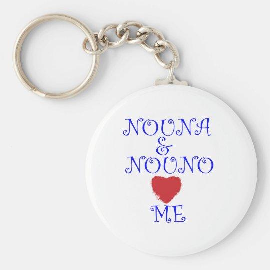 NOUNA AND NOUNO LOVE ME KEYCHAIN