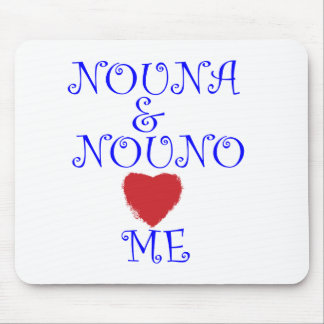 NOUNA AND NOUNO LOVE ME MOUSE PAD