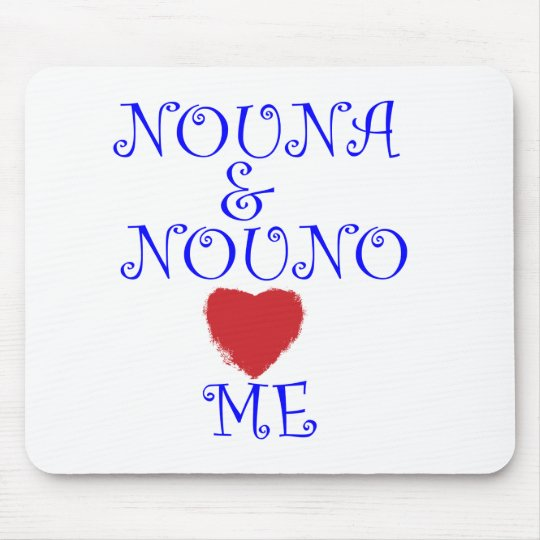 NOUNA AND NOUNO LOVE ME MOUSE PAD