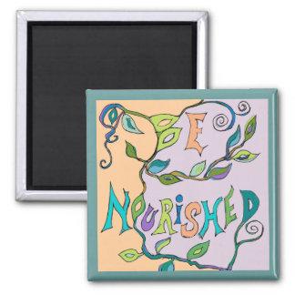 nourish art 2 inch square magnet