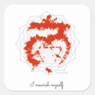 Nourish Self Affirmation Red Muladhara Sticker