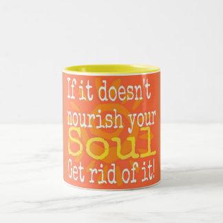 Nourish Your Soul Two-Tone Coffee Mug