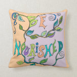 nourished by the sun throw pillow