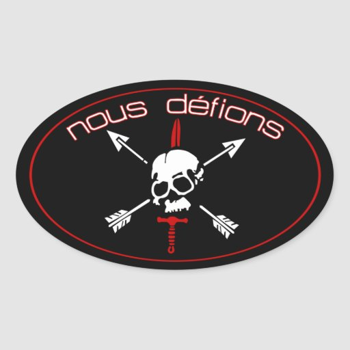 Nous Defions Oval Stickers