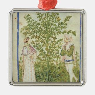 Nouv Acq Lat Celery, from 'Tacuinum Sanitatis' Metal Ornament