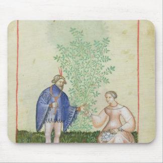 Nouv Acq LatRoses, from 'Tacuinum Sanitatis' Mouse Pad