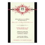"""Nouveau Anniversary Party Invitation (red) 5"""" X 7"""" Invitation Card"""