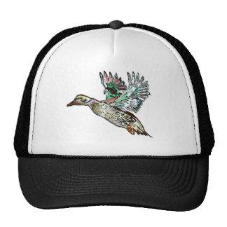 Nouveau Art Mallard Duck Trucker Hats