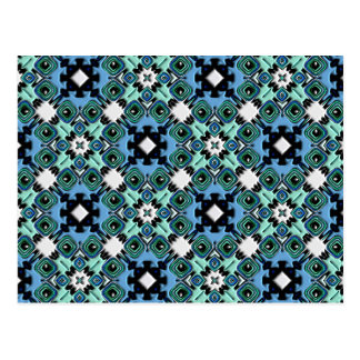 Nouveau Art Style Abstract Bas-relief Kaleidoscope Post Cards