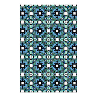 Nouveau Art Style Abstract Bas-relief Kaleidoscope Stationery