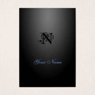 Nouveau Black Elegant Style Business Card