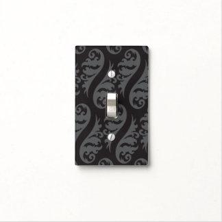 Nouveau black grey light switch cover