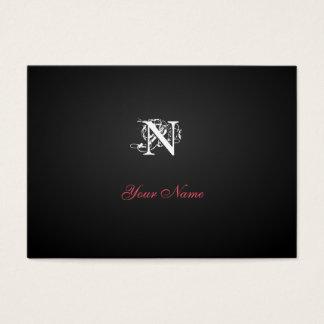 Nouveau Black Modern Rubis Business Card