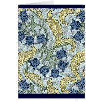 Nouveau Blue Flowers