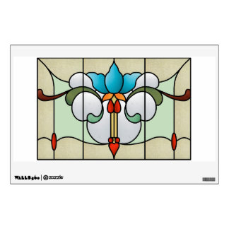 Nouveau Blue Tulip Window or Wall Decal