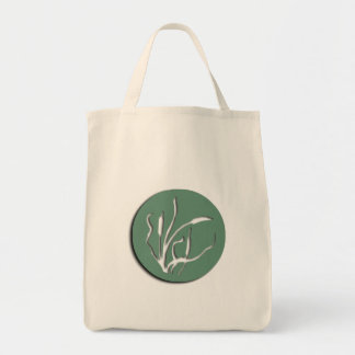 Nouveau Cat-Tail Reed Organic Grocery Tote Canvas Bag