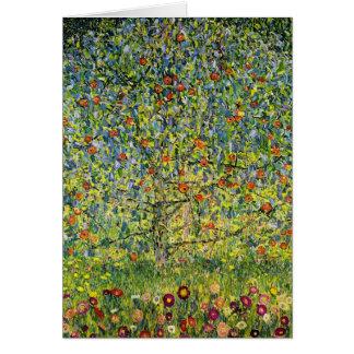 Nouveau del arte de la pintura de Gustavo Klimt el Tarjeta De Felicitación