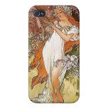 Nouveau del arte de la señora de la primavera de M iPhone 4 Protector