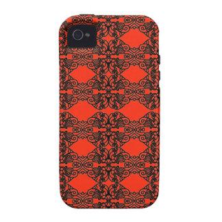 Nouveau del arte en cordón negro Case-Mate iPhone 4 fundas
