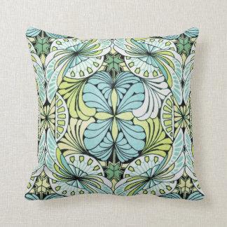 Nouveau Exotic Flowers Throw Pillow