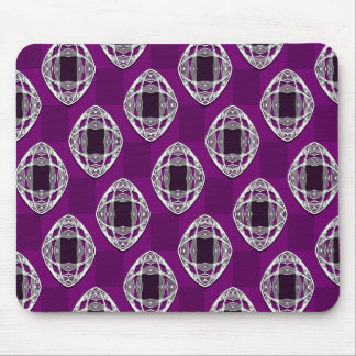 Nouveau Eye Checkerboard Amethyst Mouse Pad