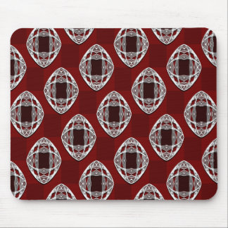Nouveau Eye Checkerboard Brick Red Mouse Pad