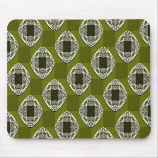 Nouveau Eye Checkerboard Olive Mouse Pad