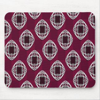 Nouveau Eye Checkerboard Plum Rouge Mouse Pad
