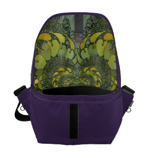 Nouveau Floral Abstract Interior Commuter Bag Courier Bag