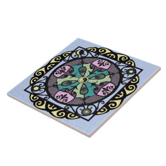 Nouveau Garden Gate Ceramic Tile