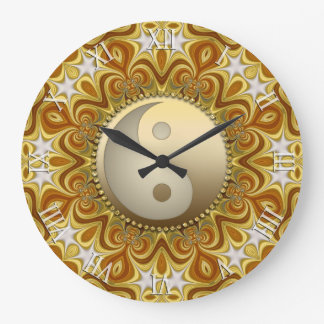 Nouveau Gold  Yin Yang Feng Shui Home Decor Clock