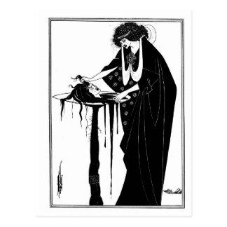 Nouveau gótico Salome del arte del gótico blanco y Postal