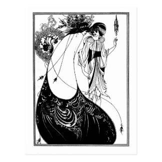 Nouveau gótico Salome del arte del gótico blanco y Postales