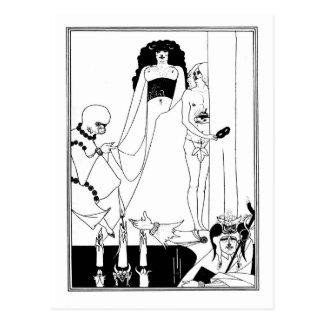 Nouveau gótico Salome del arte del gótico blanco y Tarjetas Postales